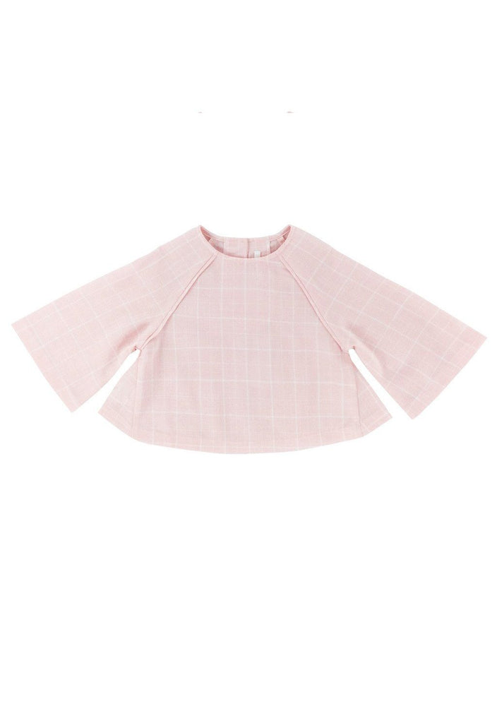 The WAU Checked Blouse - Baby Pink