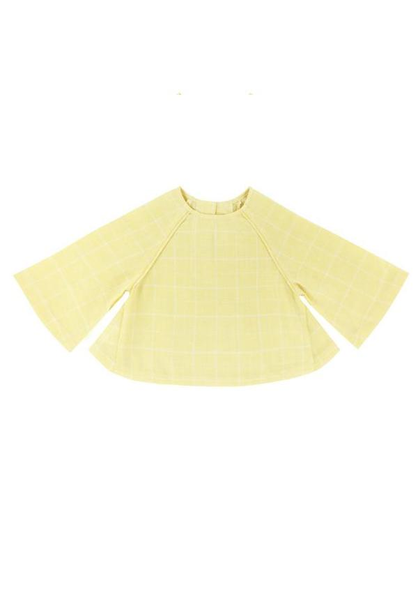 The WAU Checked Blouse - Yellow