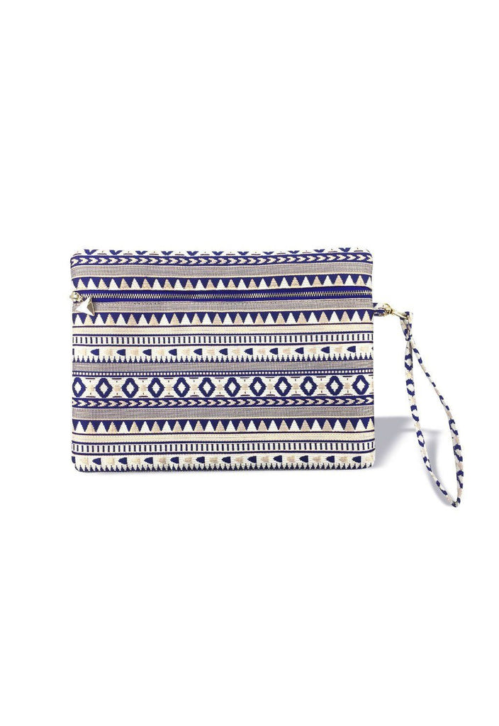 The WAU Festique Wristlet Pouch - Royal Blue