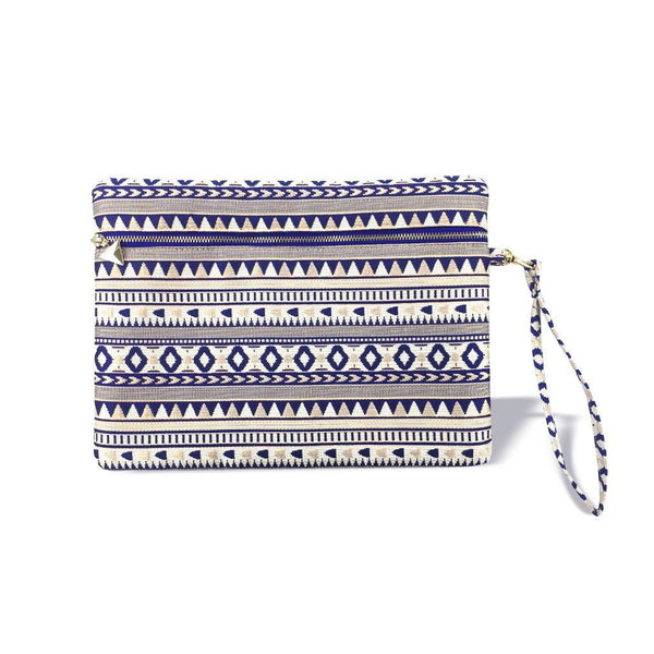 Festique wristlet pouch design royal blue