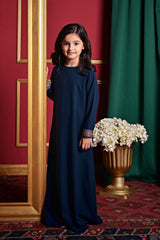 The PULANG Far East Jubah - Navy Blue
