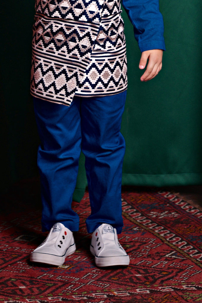 The TALI Slim Fit Pants - Royal Blue