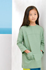 The Pulau Pair Pockets Tunic - Fresh Vegan Green