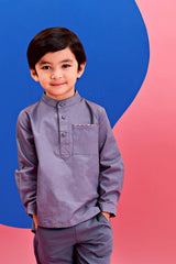The Pelangi Kurta - Dark Grey
