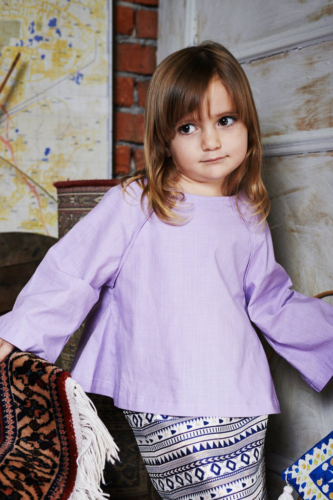 The WAU Kurung Blouse - Purple