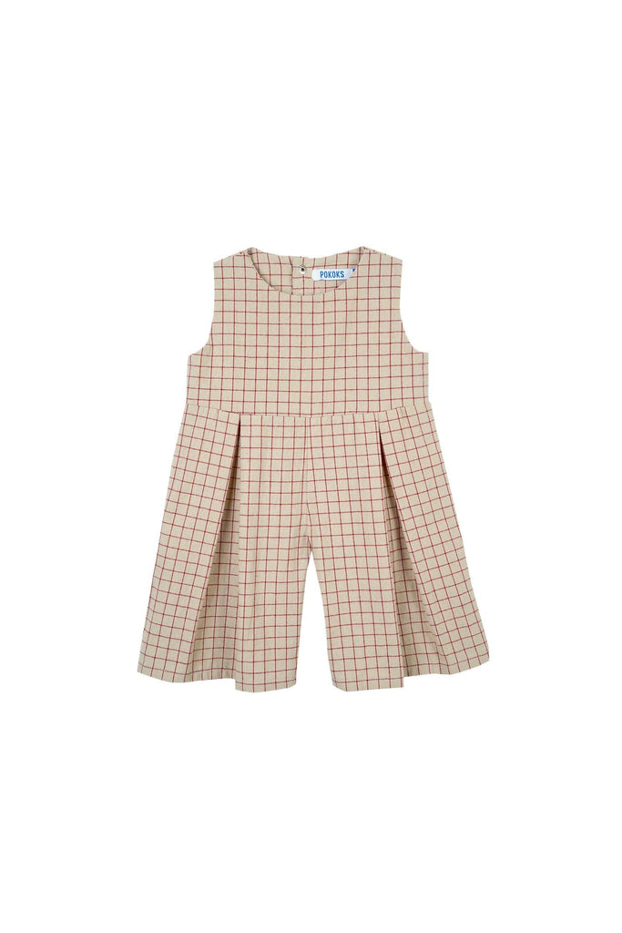 The Oasis Babies Dungarees - Checked Red