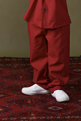 The Ingat Tapered Pants - Ruby Red