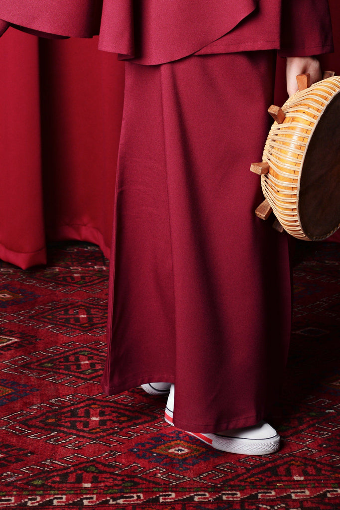 The TALI Mermaid Skirt  - Maroon