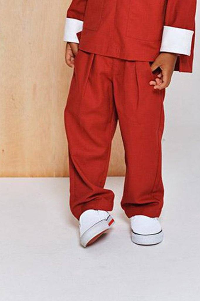 The Limau Tapered Pants - Ruby Red