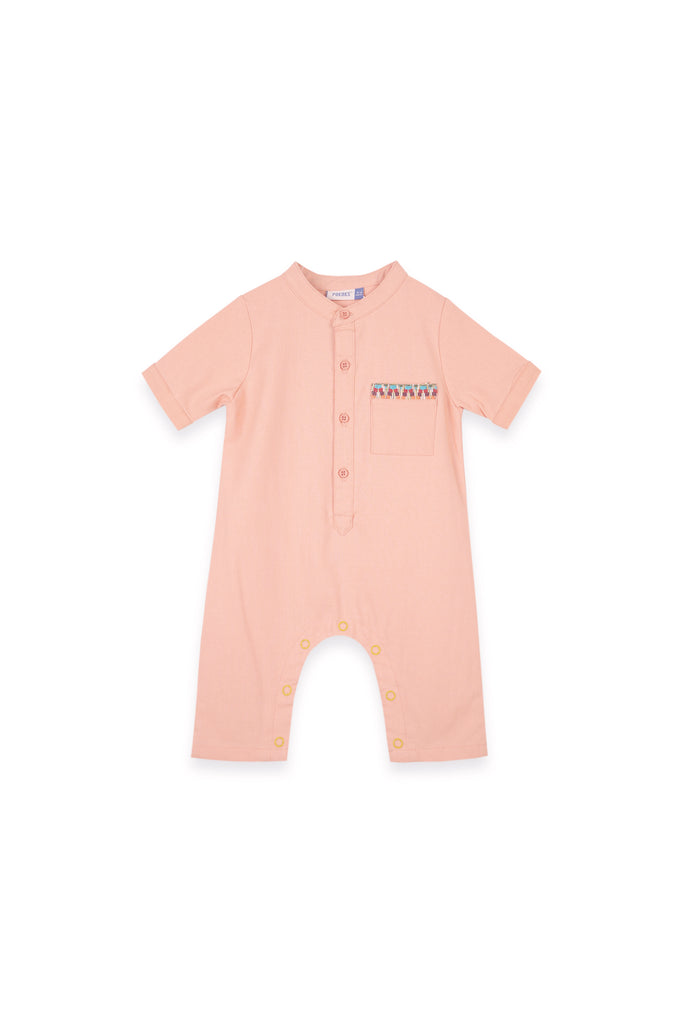 The Oasis Babies Jumpsuit - Salmon