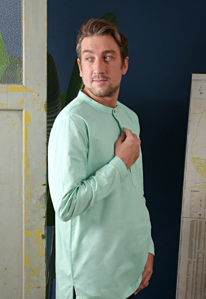 The Cerita Men Kurta - Tiffany Green