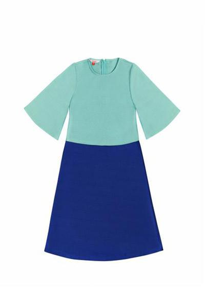 The Serai Bicolor Jubah - Tiffany blue / Royal blue