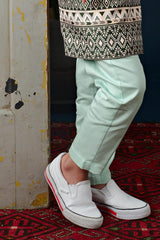 The Cerita Tapered Pants - Tiffany Green