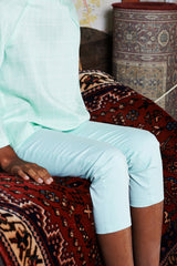 The WAU Cotton Skinny Pants - Tiffany Blue
