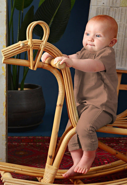 The Cerita Babies Jumpsuit - Dark Tortilla Brown