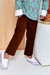 The Limau Tapered Pants - Walnut Brown