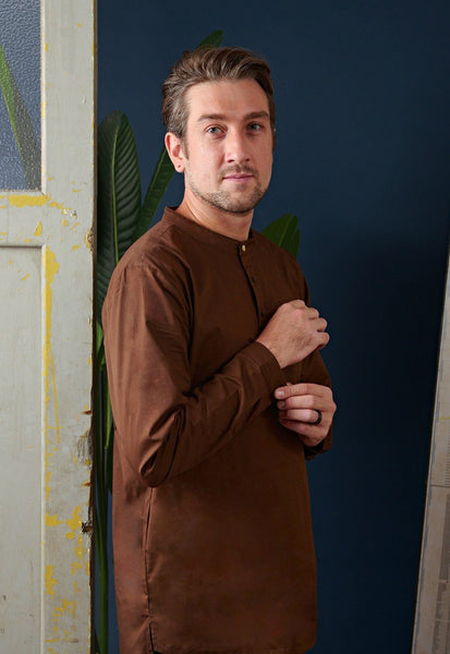 The Cerita Men Kurta - Walnut Brown