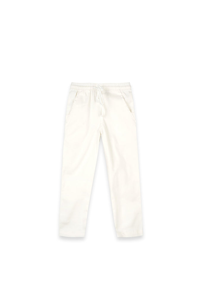 The Oasis Slim Pants - White