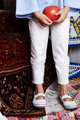 The WAU Cotton Skinny Pants - White