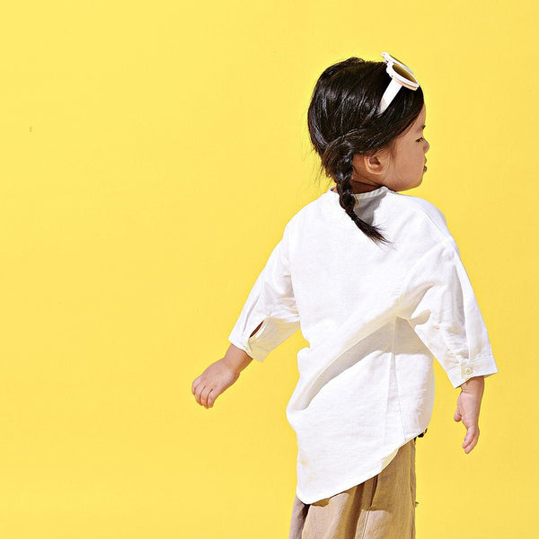The LAGOM Unisex High Low Kurta - White
