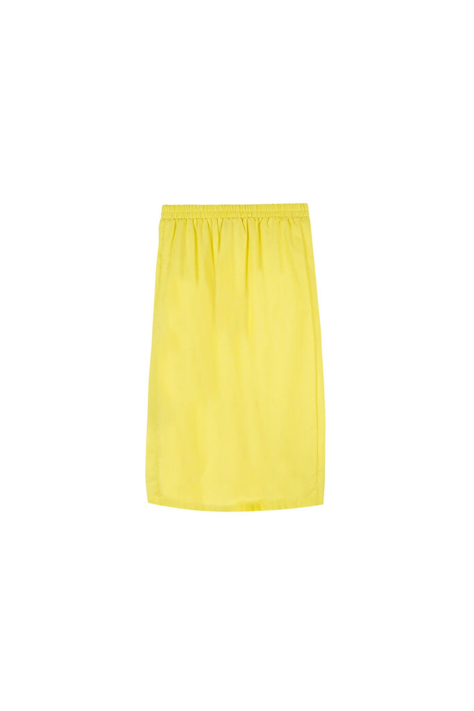 The Oasis Godet Skirt - Lemon Yellow