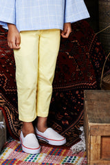 The WAU Cotton Skinny Pants - Lemon Yellow