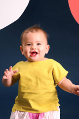The Pelangi Babies Boxy Top - Lemon Yellow