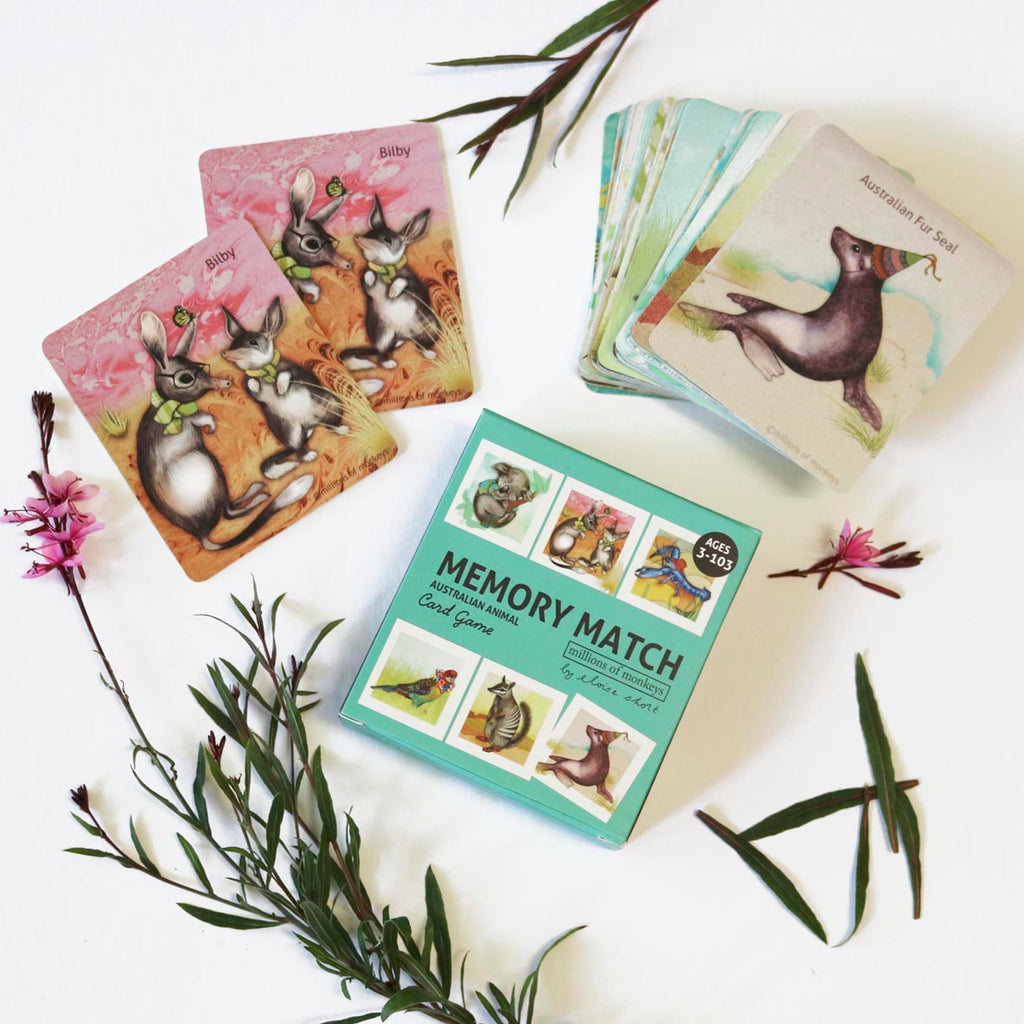 Memory Card Game - Australian Animals