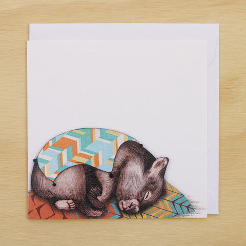 Card - Sleepy Wombat