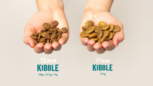 What size or shape do our kibbles have?