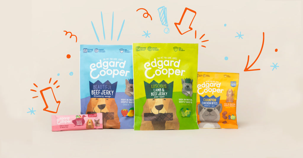 Studio shot of all Edgard & Cooper treats