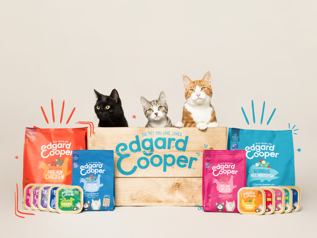 Edgard & Cooper cat food range.