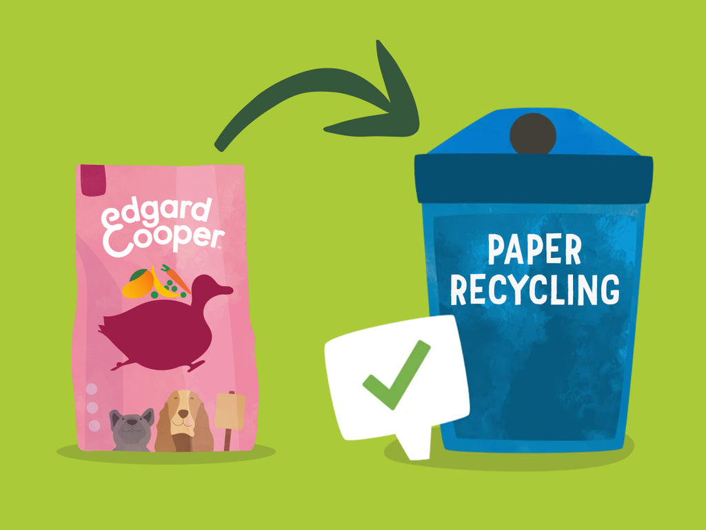 Illustration of Edgard & Cooper bag in paper recycling