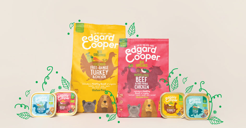 full range of organic dog food