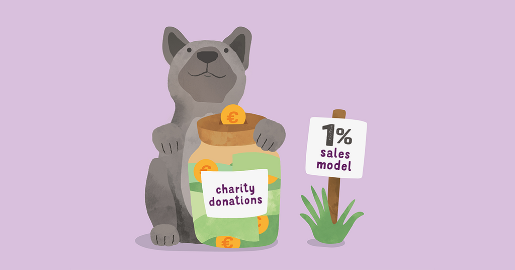 Illustration of Edgard with piggybank charity donations