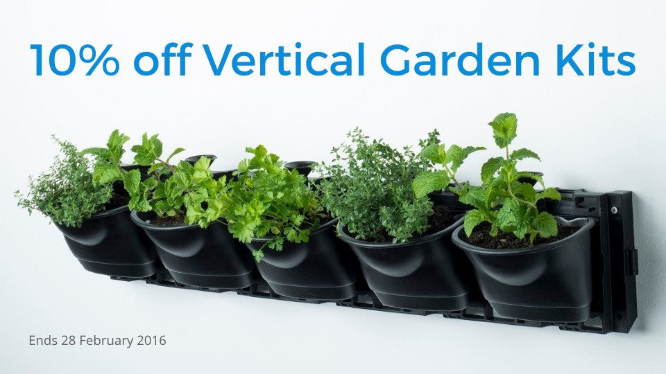10% off Vertical Garden Kits