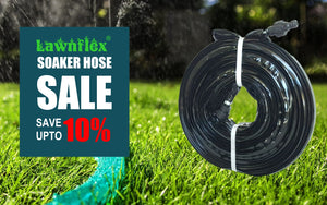 Save 10% on Soaker Hose - Ideal Lawn Sprinkler and Garden Drip Irrigation System Tube