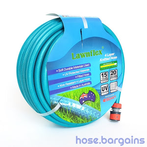 Fitted Anti Kink Knitted Garden Hose 12mm