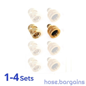 "2 Piece Brass Garden Hose Fitting Set 12mm (1/2"")"