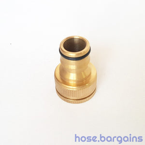 "Brass Garden Hose Tap Adaptor 18mm (3/4"")"
