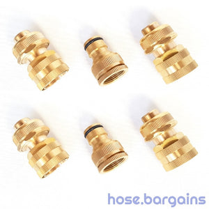 "3 Piece Brass Fire Hose Fitting Set 18mm (3/4"")"