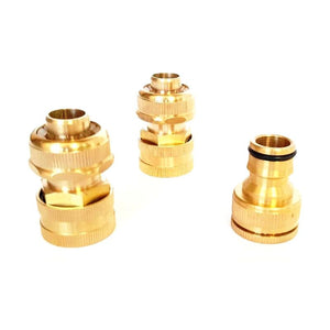 3 Piece Brass Fire Hose Fitting Set 18mm (3/4