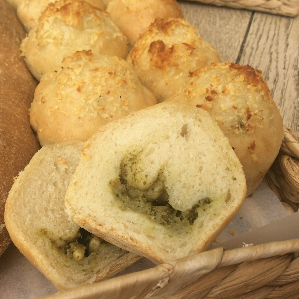 Pine Nut Pesto Muddled Loaves