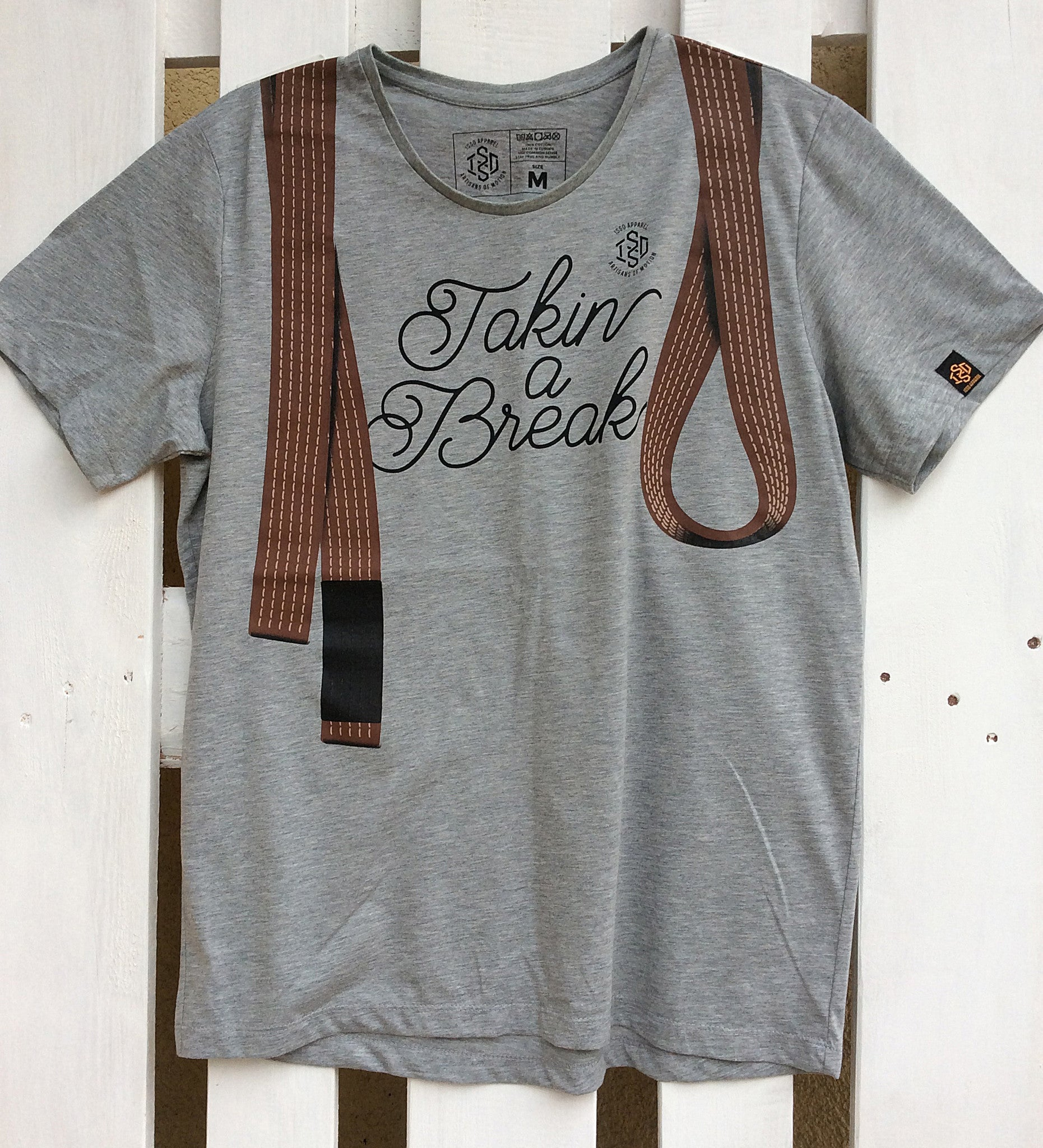 ISSO 'Takin a Break' BROWN BELT T-Shirt