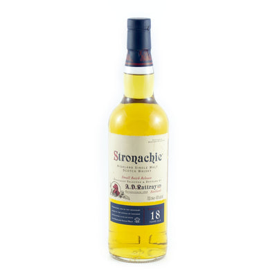 A D Rattray Single Malt Scotch Whisky Stronachie 18 Year Old