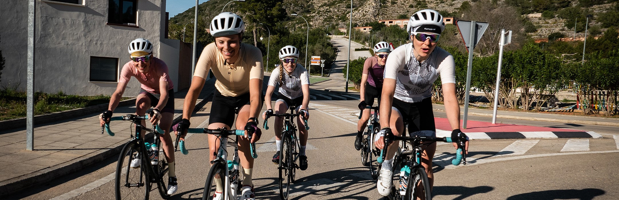 katusha women's cycling apparel - performance collection