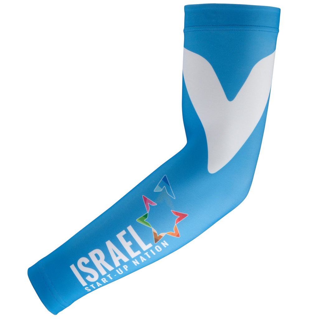 Team Israel Start Up Nation Fleece Cycling Arm Warmers