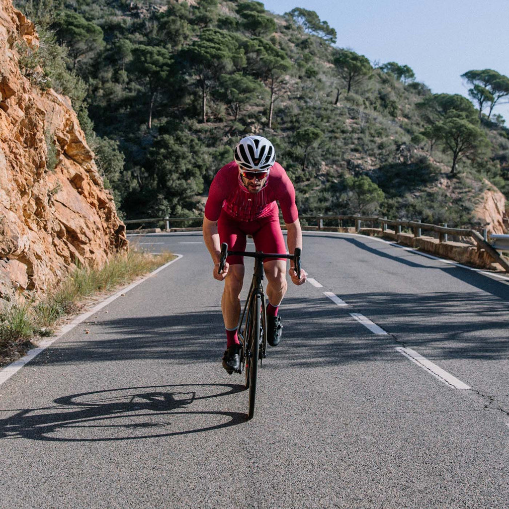 Katusha Cycling AERO Suit - Motion Blur Sangre