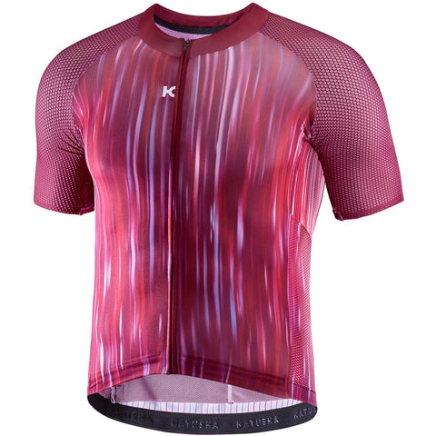 Katusha AERO Cycling Jersey Short Sleeve - Motion Blur Sangre