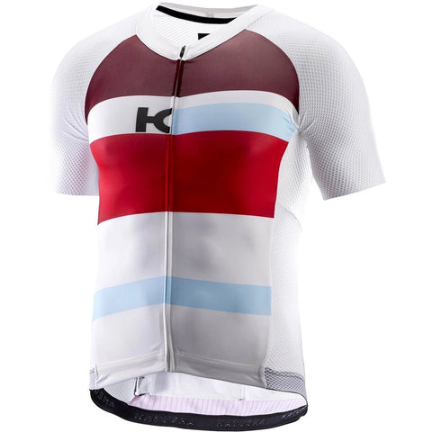 Katusha AERO Cycling Jersey Short Sleeve - White Coral
